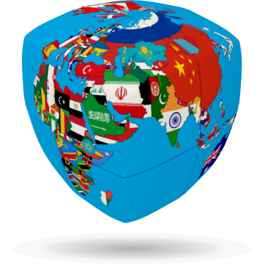 Cube of Nations - V-CUBE 2 Pillow