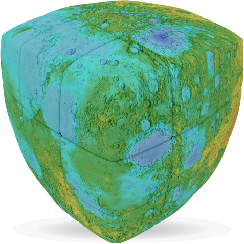 Lunar Atlas - V-CUBE 3 Pillow