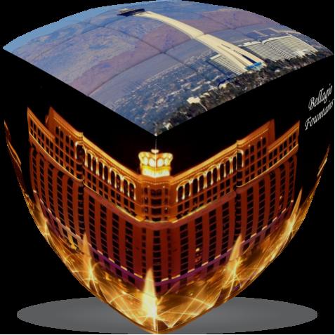 Las Vegas- V-CUBE 3 pillow
