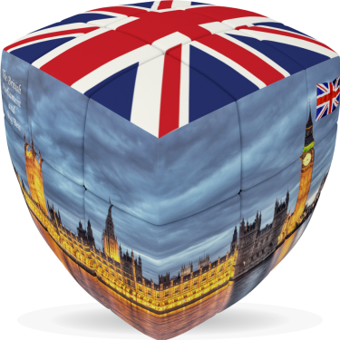 London Flag - V-CUBE 3 pillow