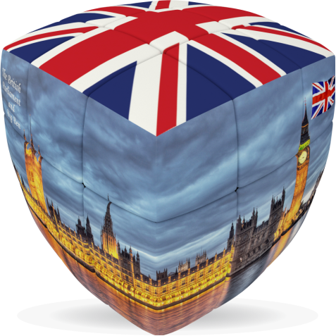 London Flag - V-CUBE 3 pillow