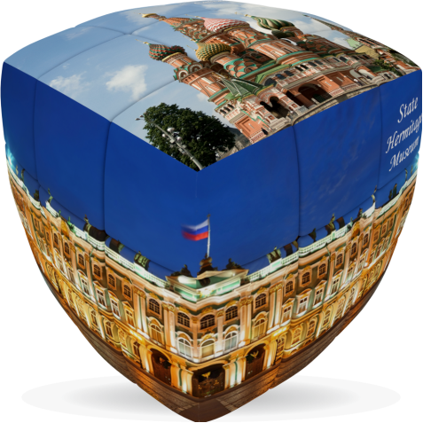 Russia- V-CUBE 3 pillow