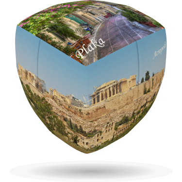 Athens - V-CUBE 2 pillow