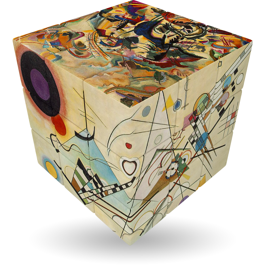 Art emotions v collections rotational cubes clever for Puzzle kandinsky
