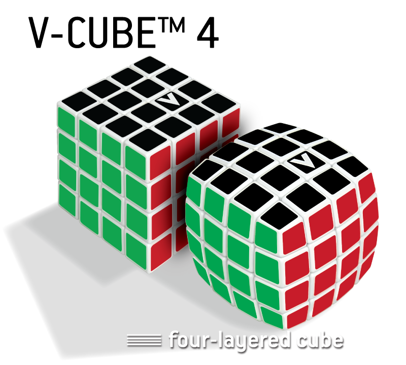 V-CUBE™ 4 The speedcubers cube - V-Classics  Four-Layered 4x4x4 smooth rotation Cube