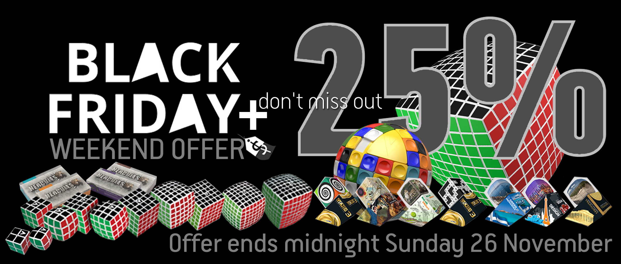 Black Friday  25% discount on all V-Games & Puzzles
