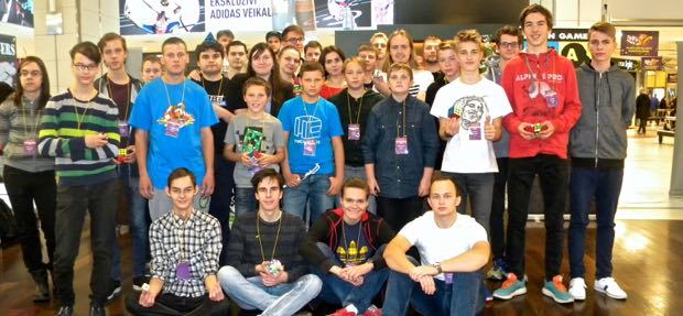 V-Cube Open in Latvia. 20 different cubing disciplines ranging from entry-level to advanced speedcubes