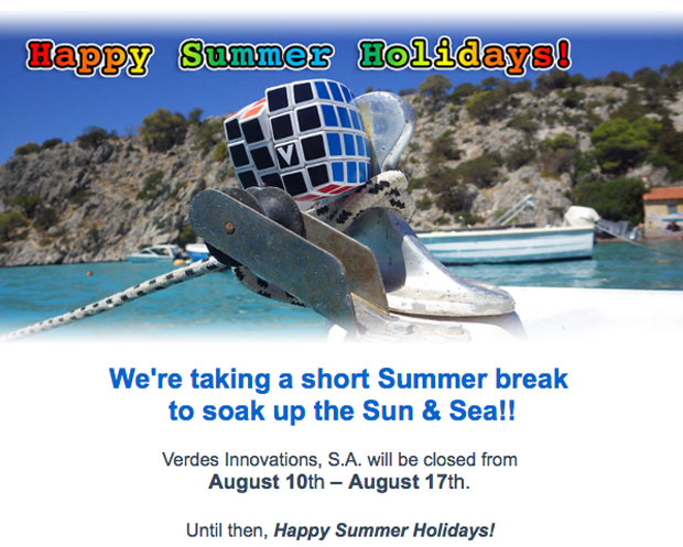 V-Cube closed August 10th - 17th | Happy Summer Holidays
