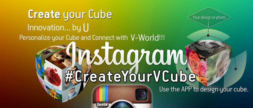 Instagram your personalized V-Cube